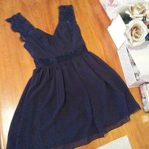 Asos Navy Petite Mini Dress